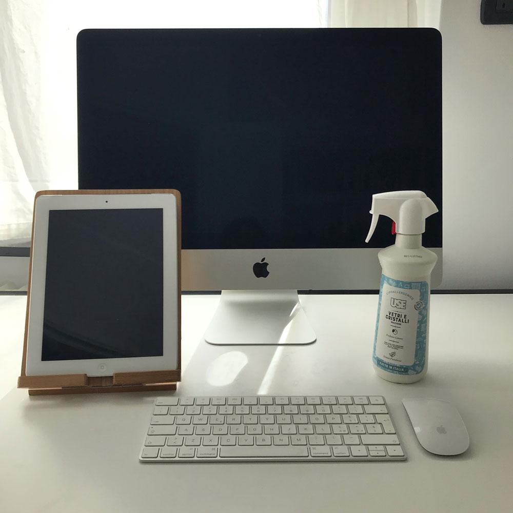 come pulire schermi