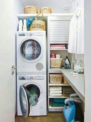 zona lavatrice organizzata